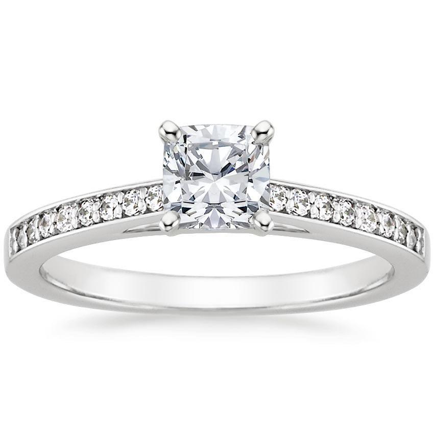 18k White Gold Starlight Diamond Ring Diamond Engagement Rings White Gold Engagement Rings