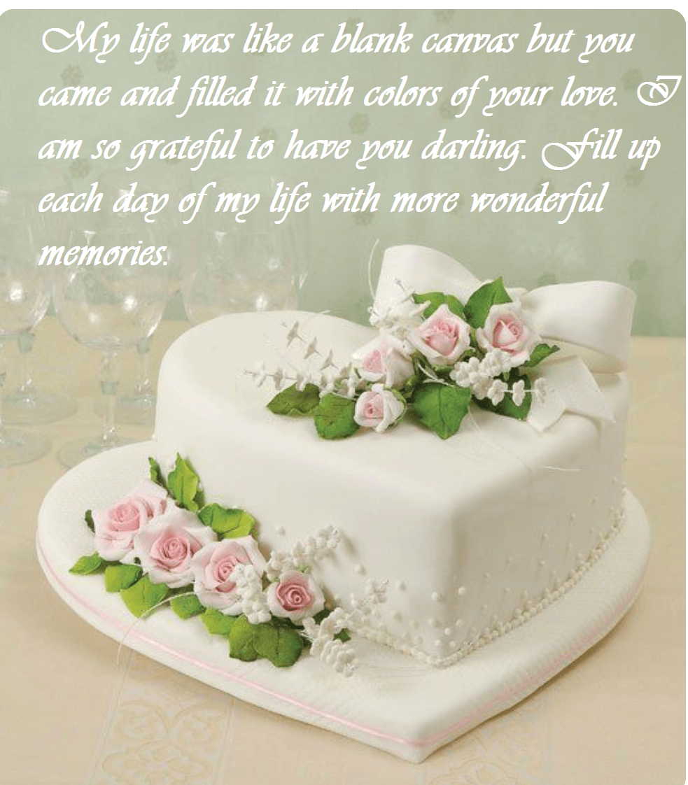 Happy Anniversary Beautiful Cake Wishes Messages Images Best Wishes Wedding Cake Quotes Cake Quotes Cake Quotes Funny