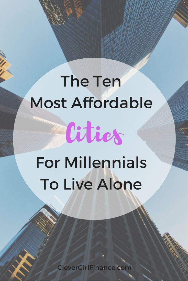 Given the current cost of home prices and rents across the country, it's common to assume that millennials cannot afford to live alone. However, there are still some really great cities across the country where millennials can live alone (and live alone well at that!) with good financial habits and good planning.