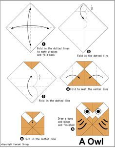 Easy Origami For Kids Owl