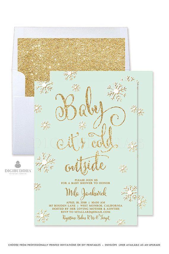 Winter Baby Shower Invitation Gender Neutral By Digibuddhapaperie Winter Baby Shower Invitations Baby Shower Invites For Girl Baby Shower Winter