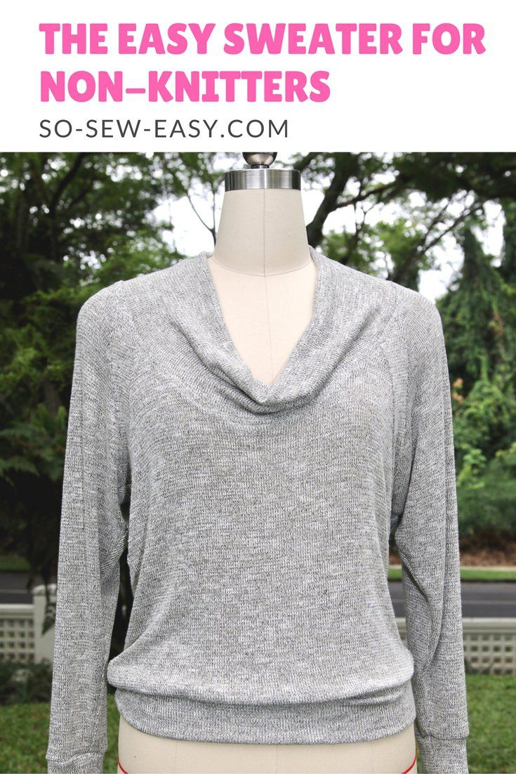 Easy sweater pattern for non-knitters: Let\'s call her Cami | Easy ...