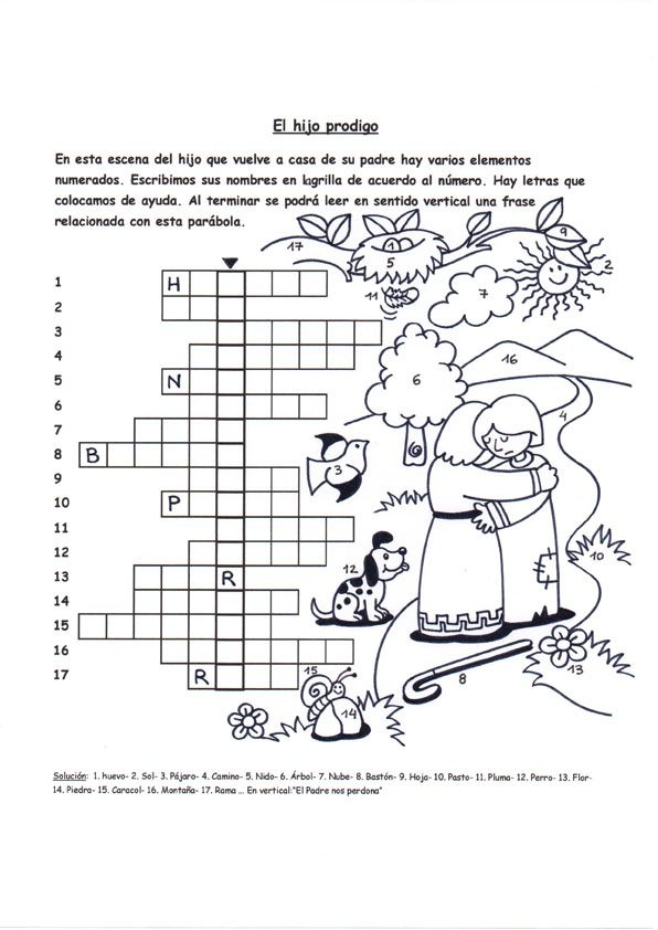 Resultado de imagen de dibujos de la parábola del hijo pródigo de Fano