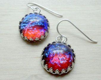 Dragons Breath Earrings Jewelry Fire Opal Mexican