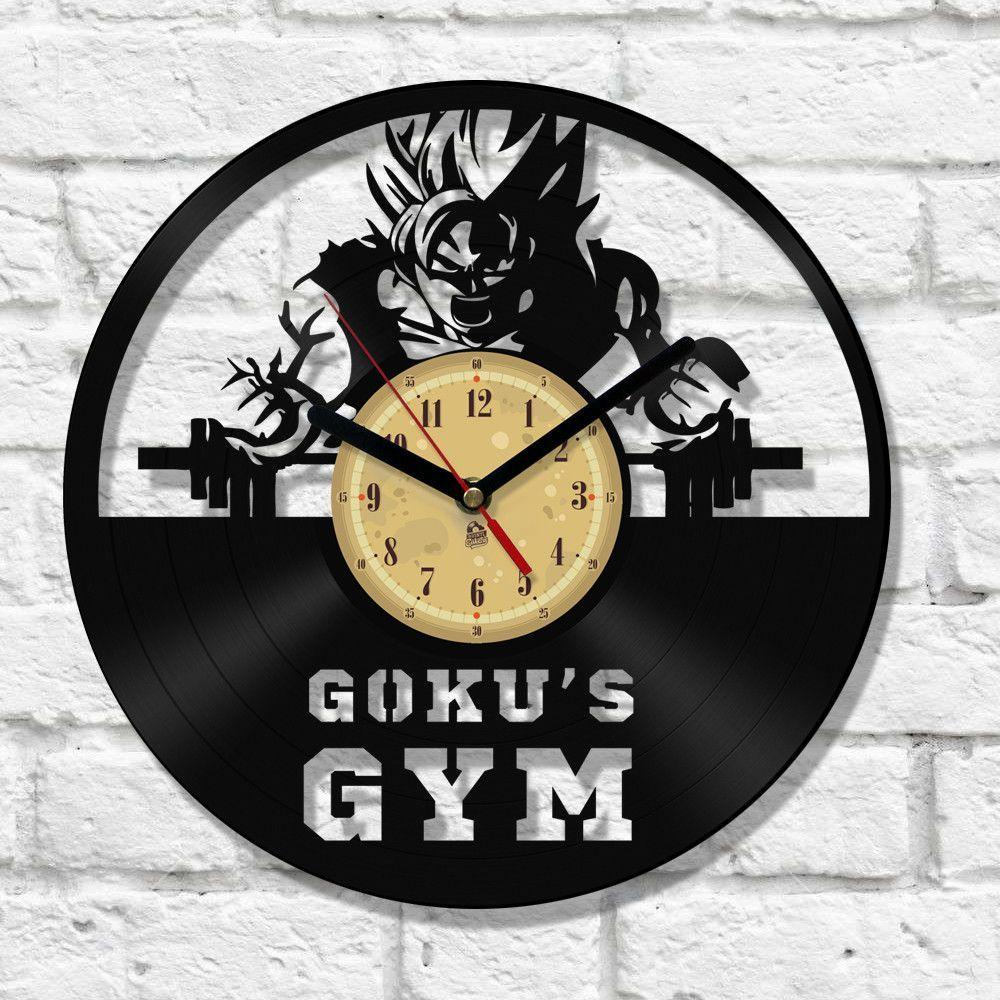 Vinyl clock gokus gym clocks and knives vinyl clock gokus gym amipublicfo Images