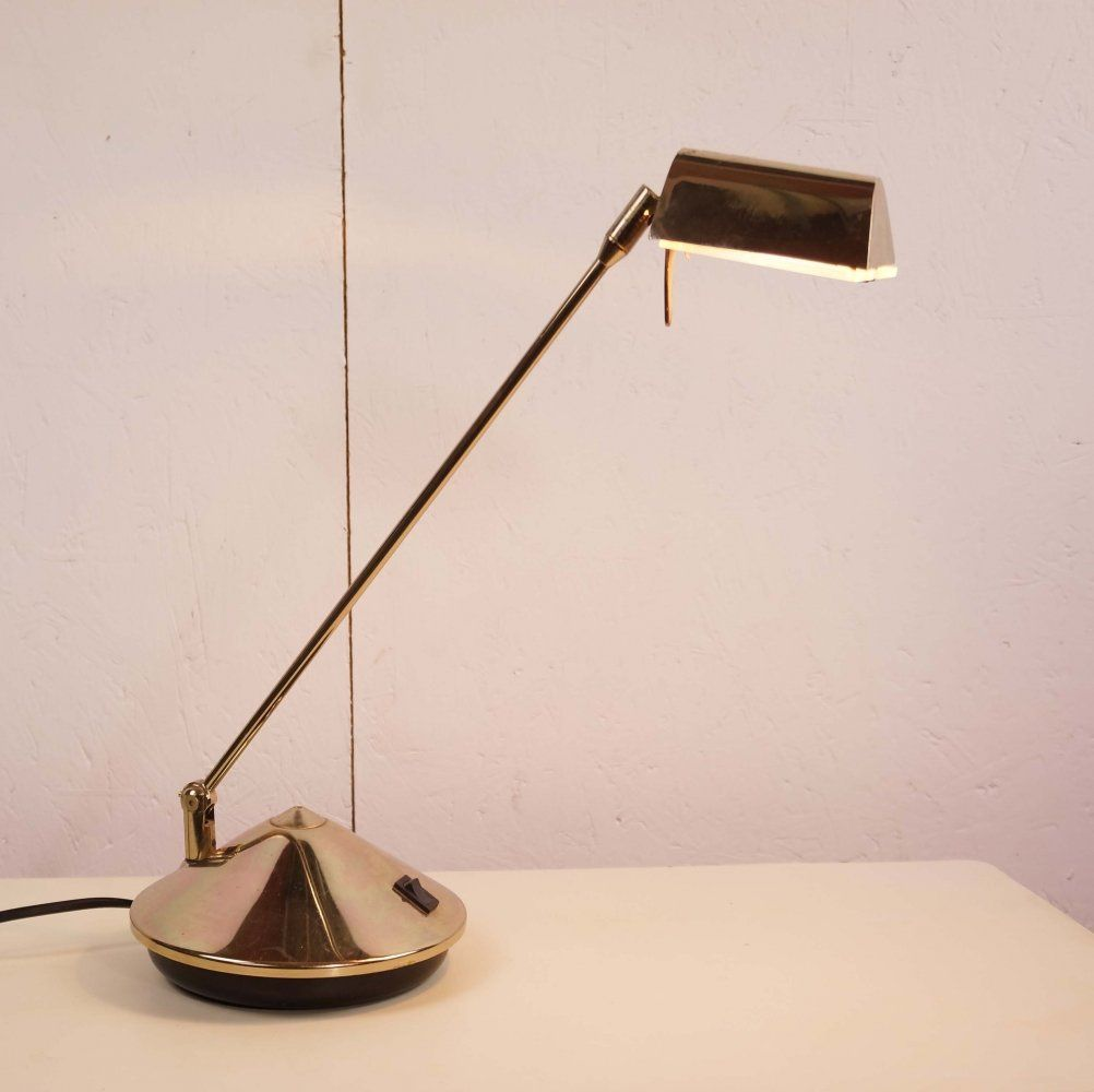 For Sale Fase Brass Plated Cone Lamp 1970 S In 2020 Lamp Desk Lamp Plating