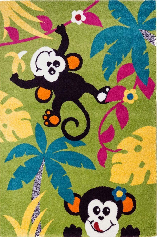 Monkeys Design Kids Area Rug Nursery La Dole Rugs