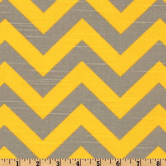Table Runner ZigZag Gray/Yellow Chevron Print by kohinoor on Etsy ...