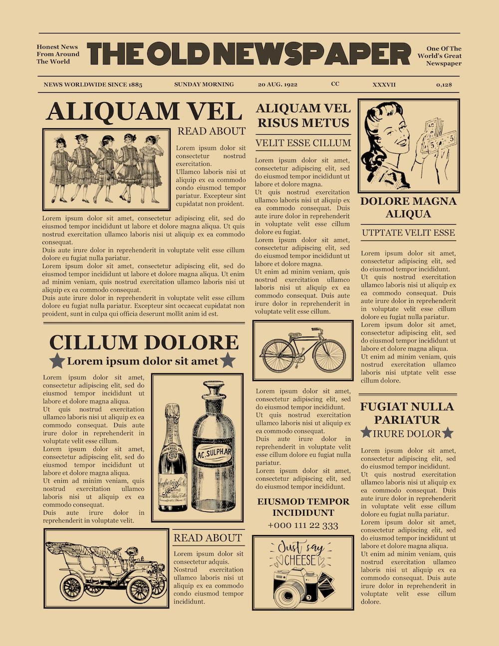 1920 S Vintage Newspaper Template Word In 2020 Newspaper Template Vintage Newspaper Newspaper Template Word
