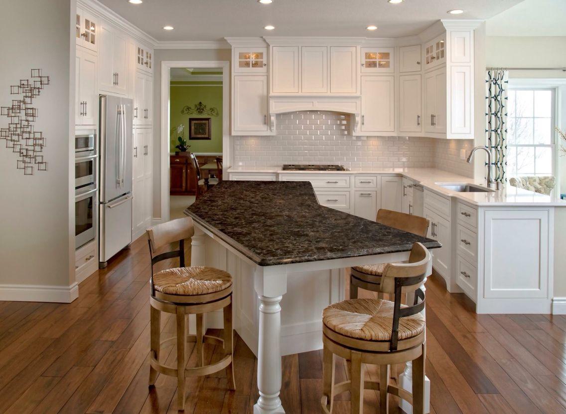Kitchen Renovation White Cabinets Wood Floors Brazilian Cherry Floors Ceasarstone Island Glass Ca Kitchen Design Kitchen Tiles Design White Kitchen Cabinets