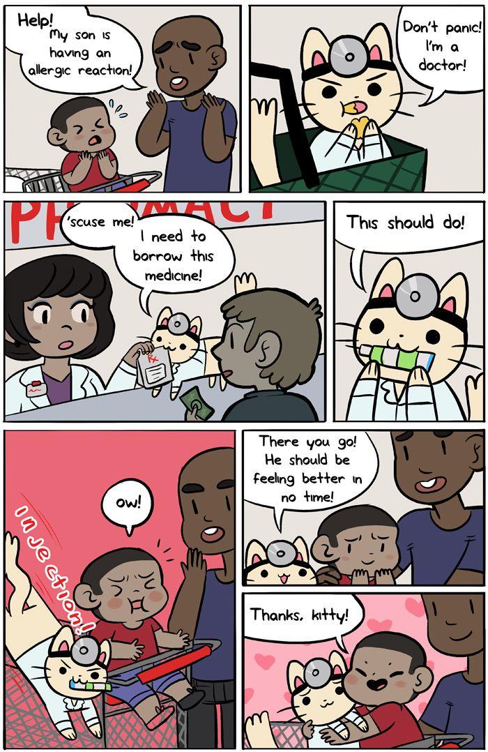 funny and cute comics Randomness! Doctor cat, Cat