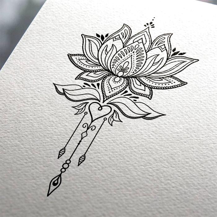 Skull In Rose Schadelzeichnung Tattoo Vorlagen