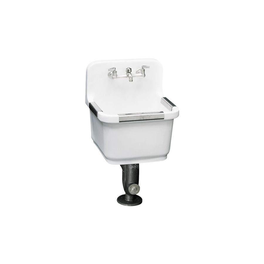 Shop KOHLER White Wall Mount Vitreous China Utility Tub at Lowes