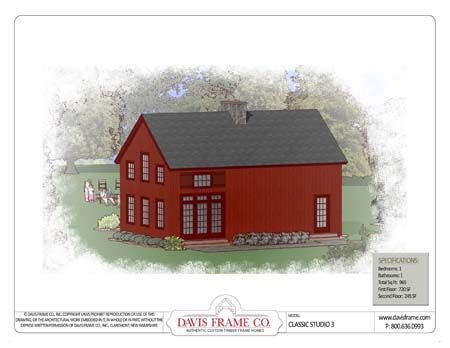 timber frame house plan of davis frame company elevation | all barn