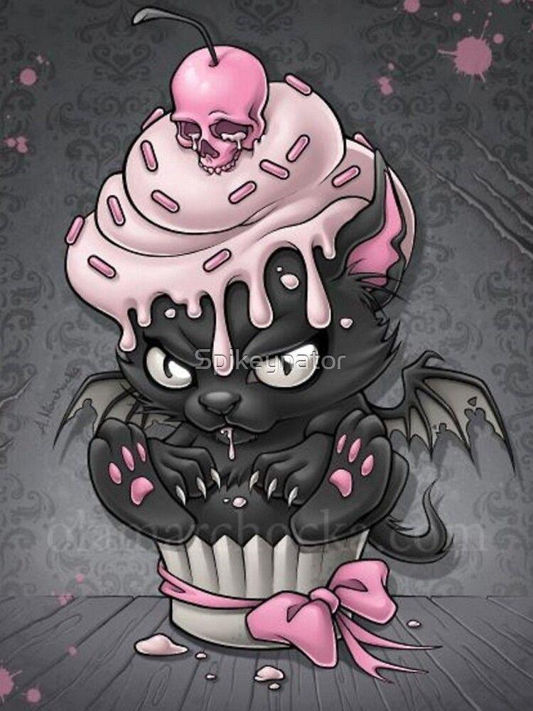 goth kitty im cupcake iphonehülle  cover von spikeynator