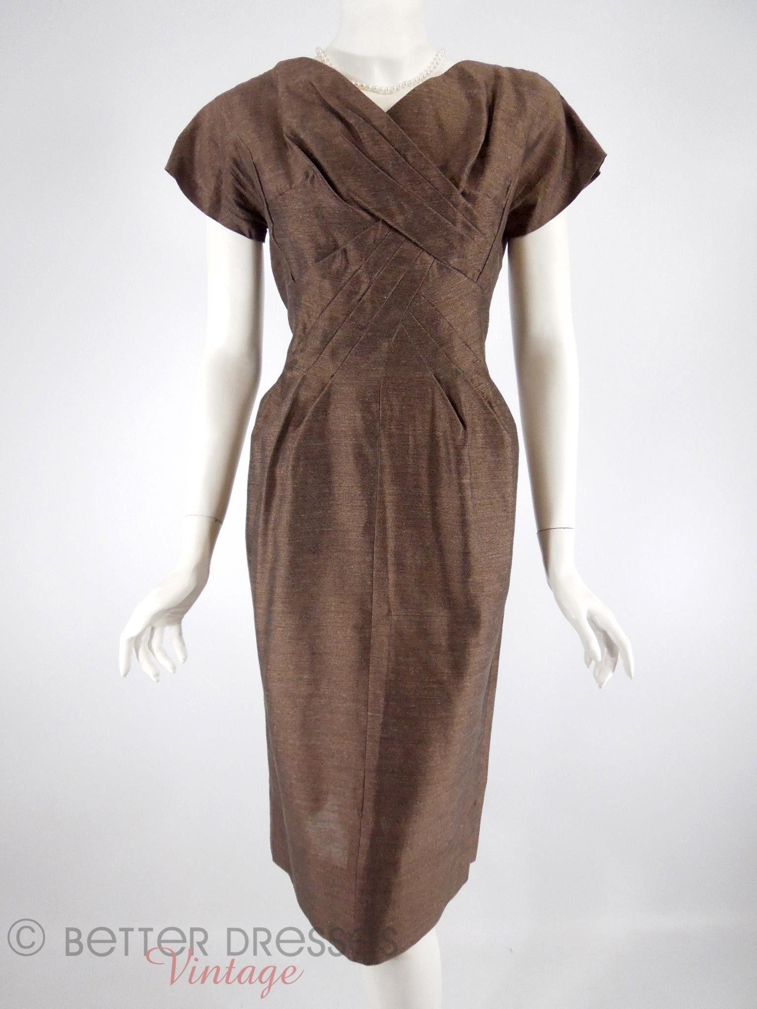 S brown cocktail dress med s vintage dresses and brown