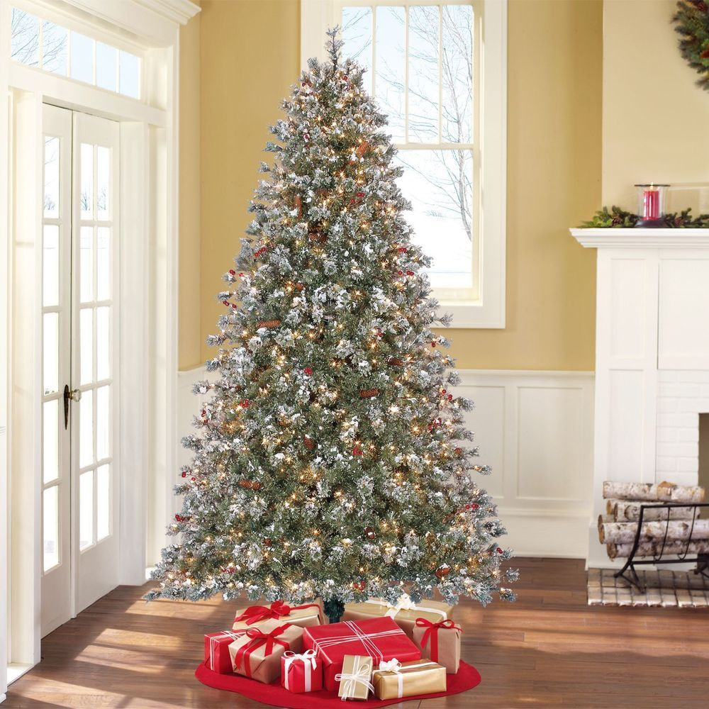 Artificial Christmas Tree Pre Lit Green White Ornament 7 5 Holiday Xmas Time Artificia Christmas Tree Clear Lights Pre Lit Christmas Tree Pine Christmas Tree