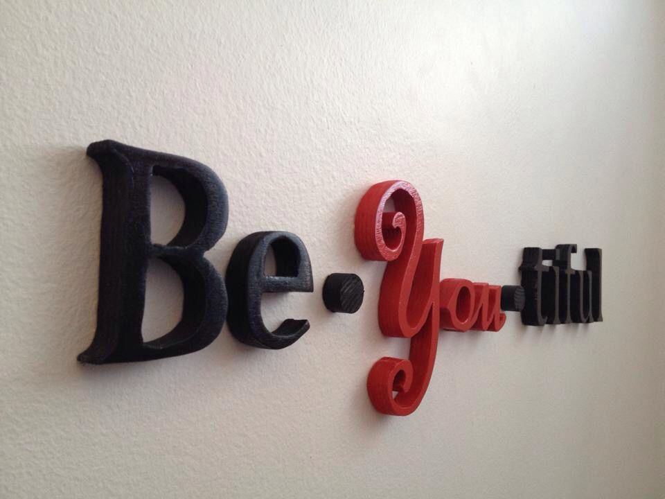 be-you-tiful wall decoration made by treehead design http://www.facebook.com/treeheaddesign