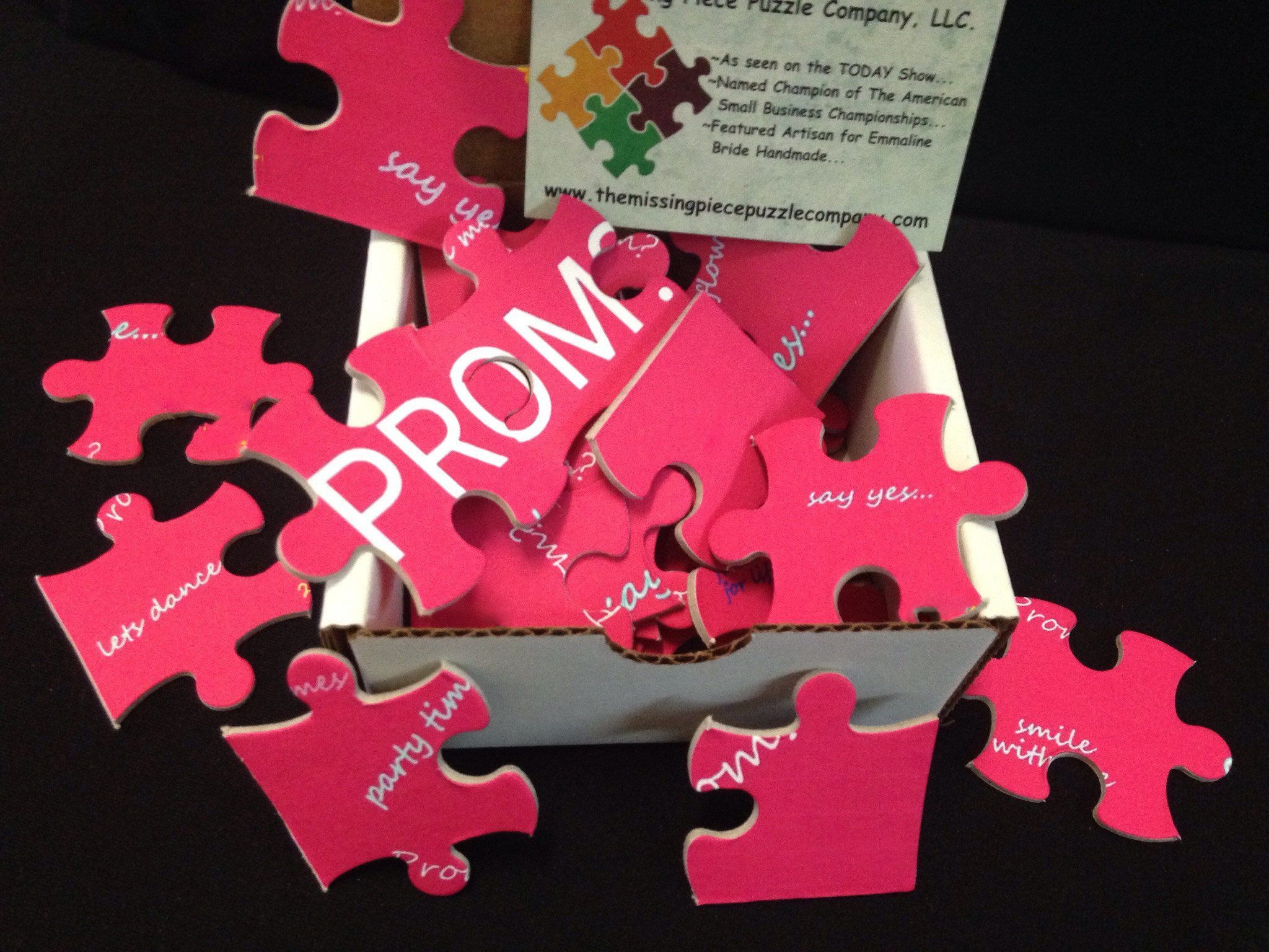 unique promposal prom proposal puzzle ask her or him to the prom