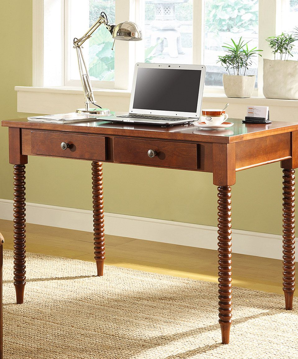 Another great find on #zulily! HomeBelle Mahogany Two-Drawer Desk by HomeBelle #zulilyfinds