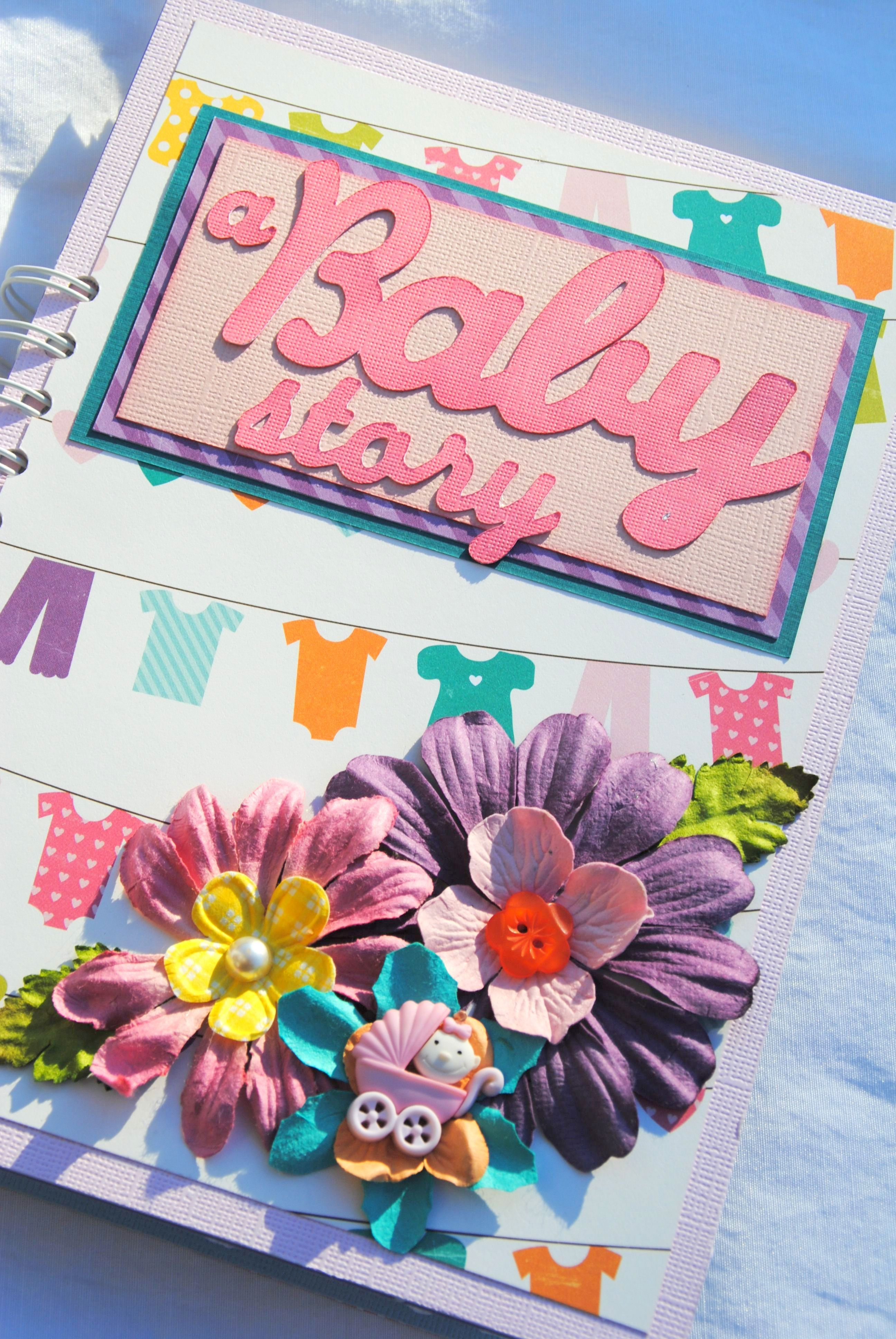 A Baby Story Baby Memory Book Craft Ideas Mini Scrapbook