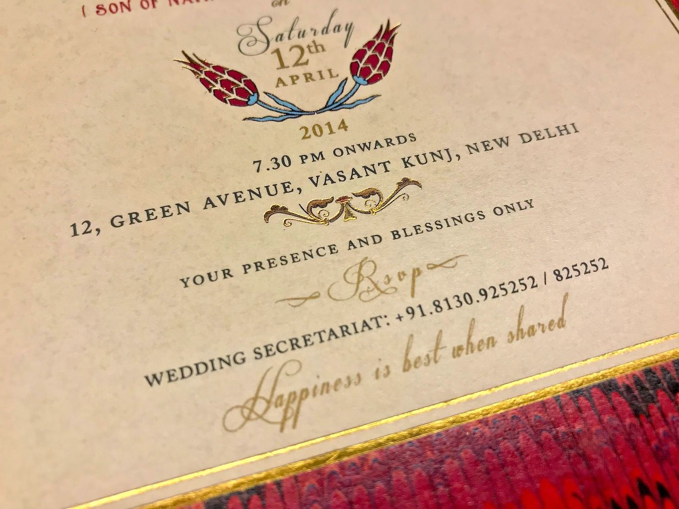 Indian Wedding Card Wording Guide Rsvp No Gifts With