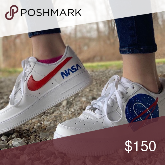 Custom Nasa Air Force One Shoes Air Force One Shoes Nasa Clothes Nasa