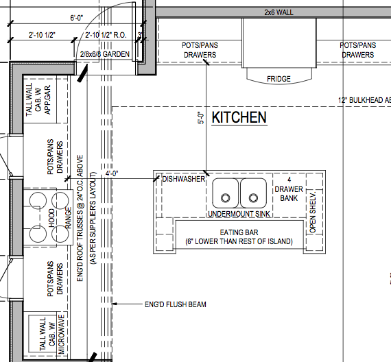 Kitchen Plans With Dimensions: Kitchen Floor Plan Layouts With Island