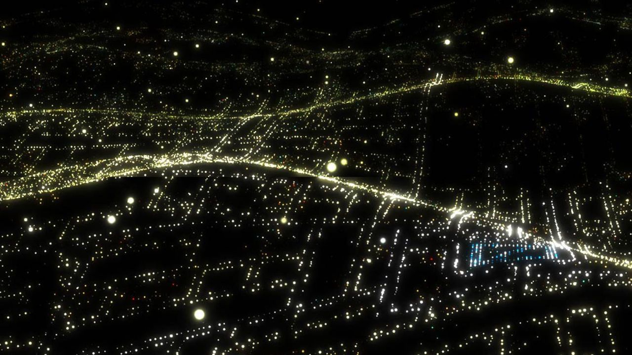 City Lights Deutsche Bank Media Wall on Vimeo Media