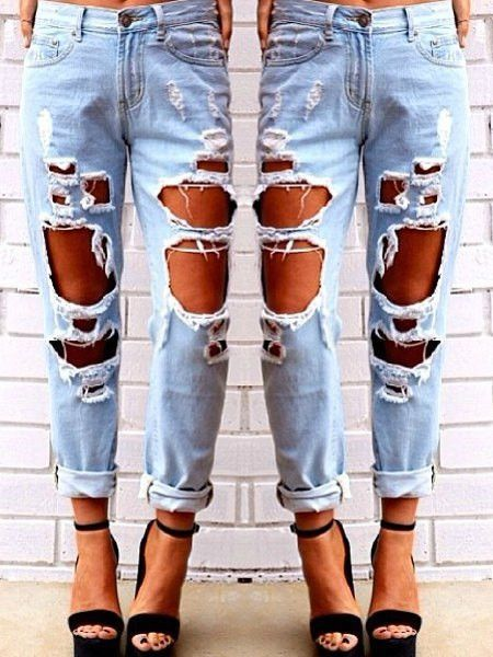 f114a87cfd These jeans are ready for you to speak out-loud! Material  Jeans Length   Normal Fabric Type  Denim Wash  Destroy Wash Fit Type  Loose   These jeans  fit true ...