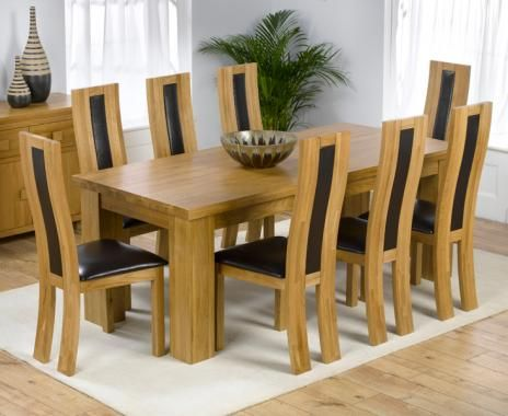 Valencia Oak Dining Table With 6 Denver Chairs