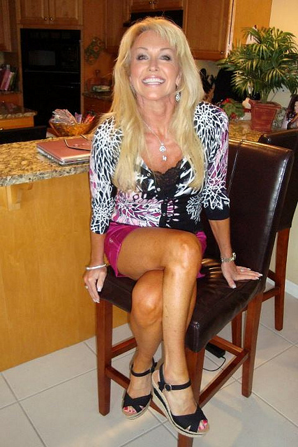 Mature barbie blond