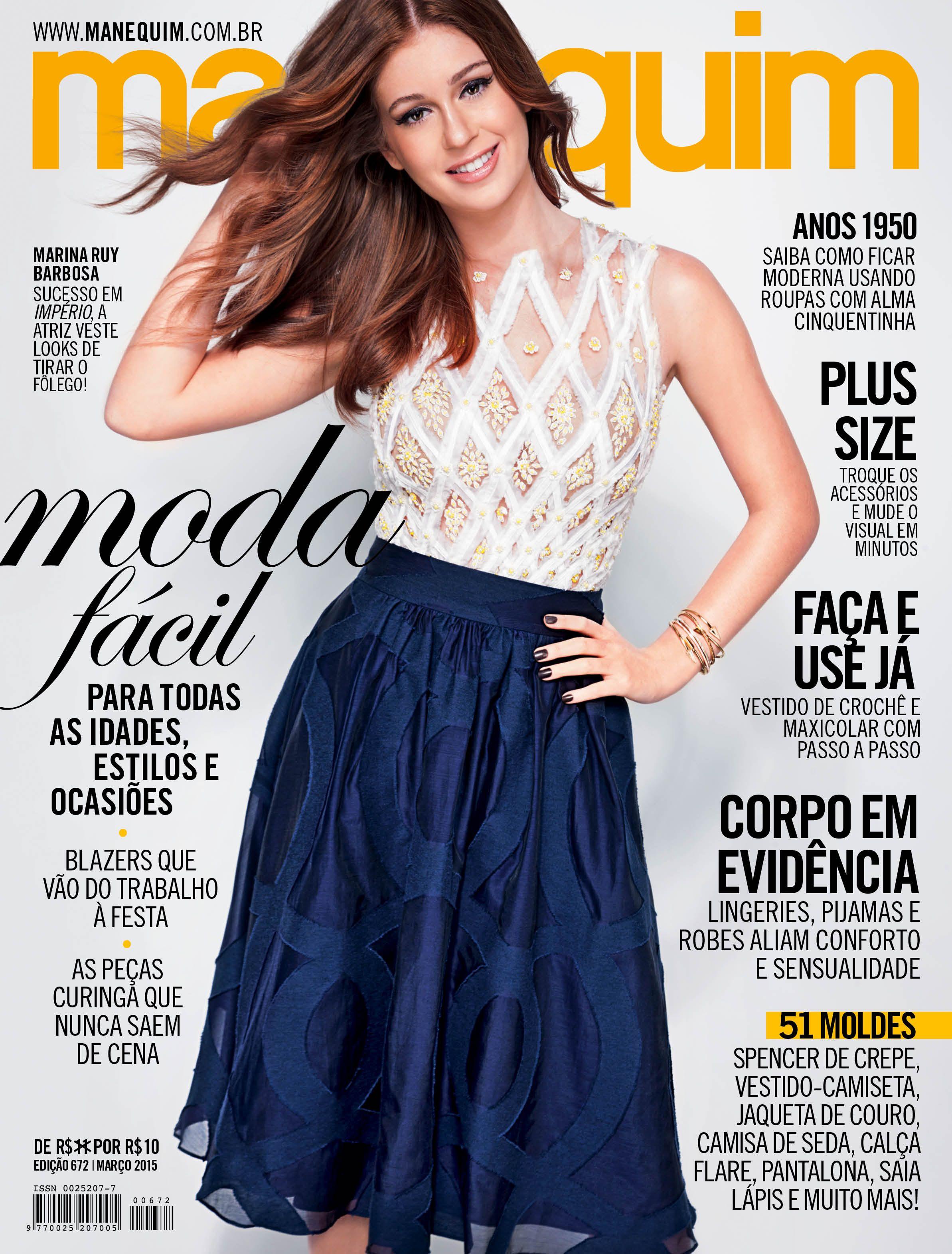 e4b56e6c59a09 Revista Manequim - março 2015 Capa  Marina Ruy Barbosa   Manequim