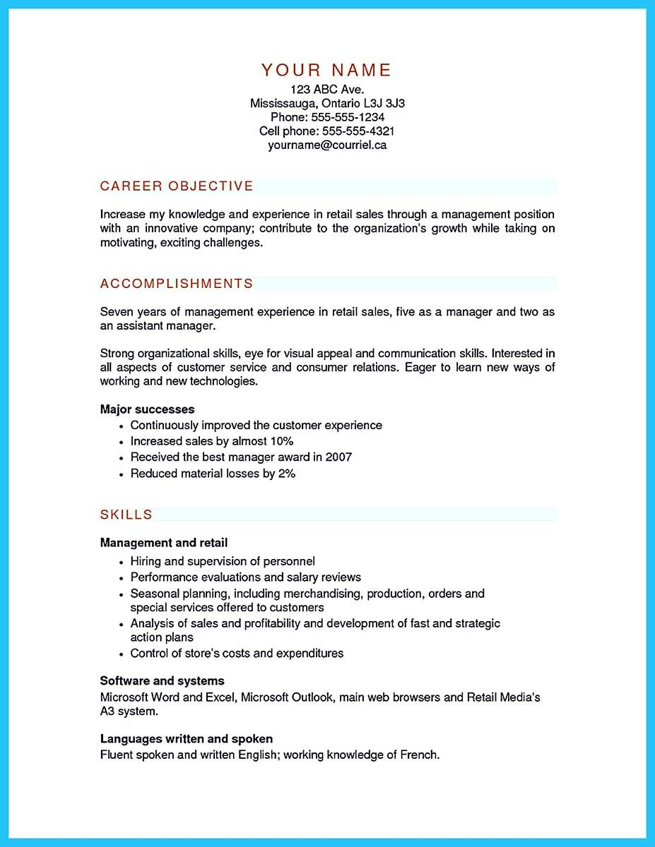 awesome Crafting a Great Assistant Store Manager Resume