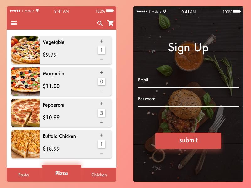 Fast Food App by mona LA