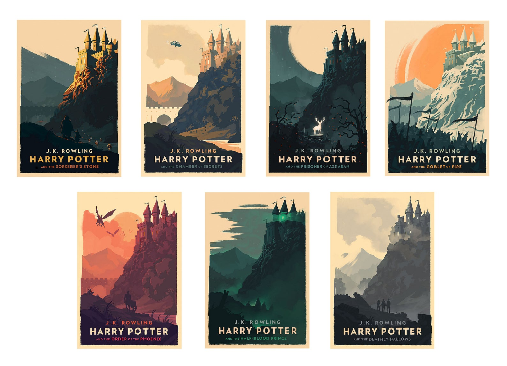 Poster Vintage Poster Harry Potter All In One Art Etsy In 2020 Harry Potter Poster Harry Potter Book Covers Harry Potter Print