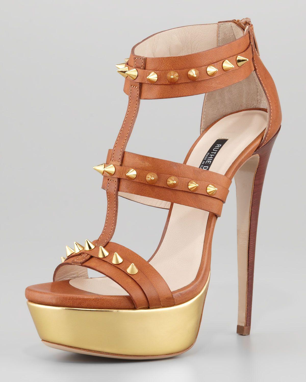 d94943702 Ruthie Davis® Bartley Studded Platform Gladiator Sandal in Brown