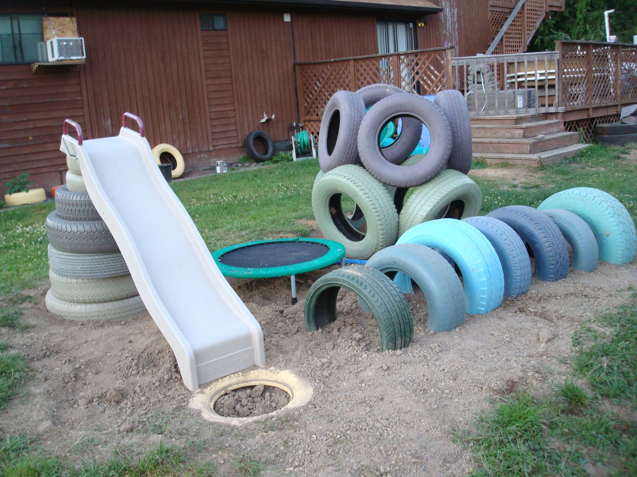 My Daughter's First Tire Playground