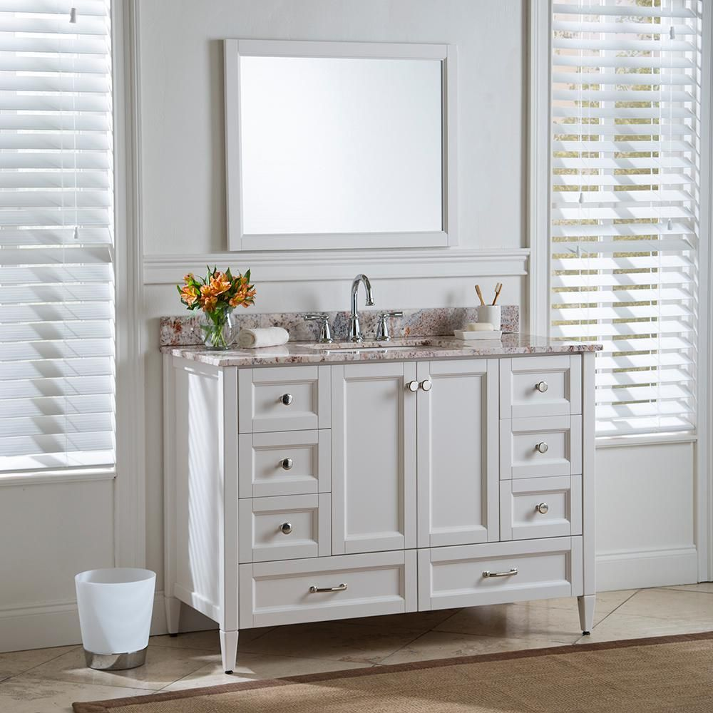Home Decorators Collection Claxby 48 In W X 34 In H X 22 In D Bath Vanity Cabinet Only In Cream Srsd Custom Bathroom Vanity Vanity Home Decorators Collection