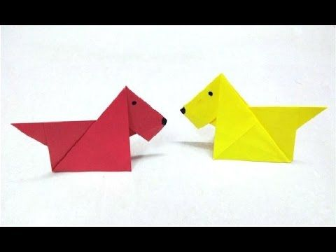How To Make An Origami Paper Dog 2 Pinterest Origami