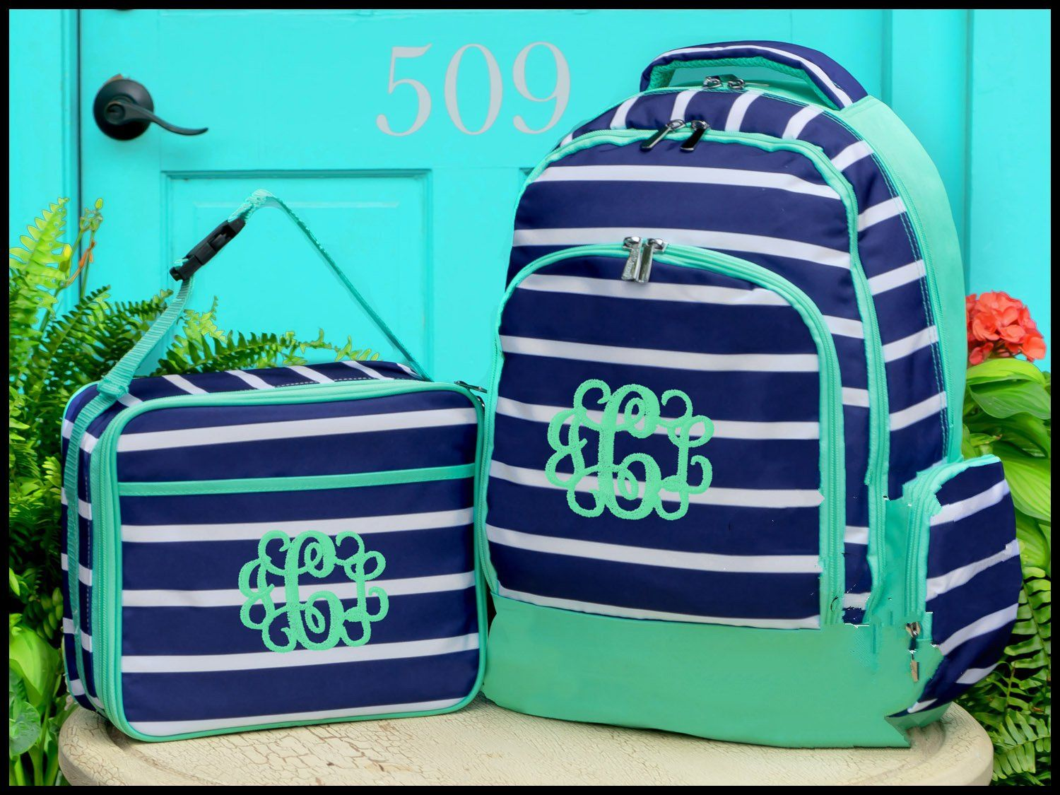 33cbba6cc6af Backpack and Lunch Box Set - Monogrammed Backpack and Lunchbox ...