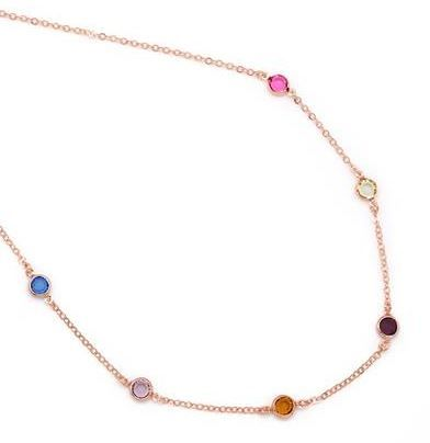 Rose gold plated and Swarovski elements necklace