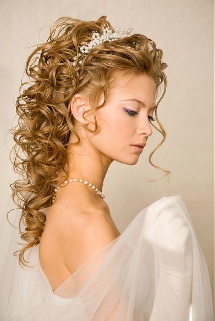 Half Up Half Down Spiral Curls Medium Hair Styles Updos For Medium Length Hair Medium Length Hair Styles