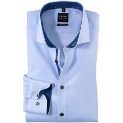 Olymp Level Five Hemd, body fit, Royal Kent, Bleu, 42 Olymp