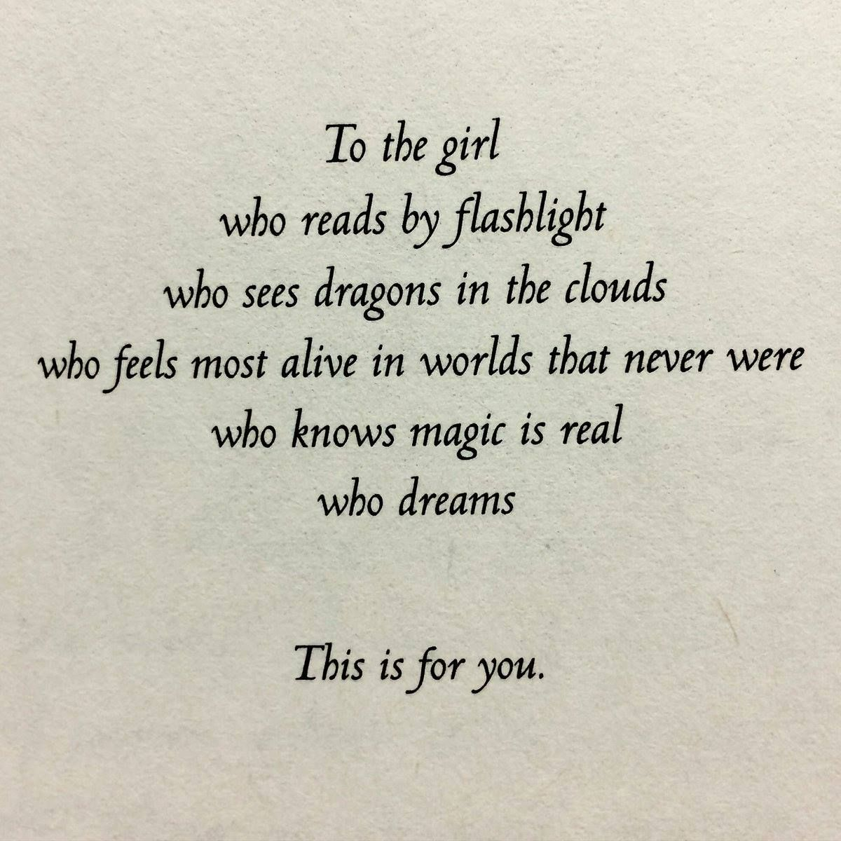 Dedication From The Book Hunted By Meagan Spooner Reading Quotes Book Quotes Words