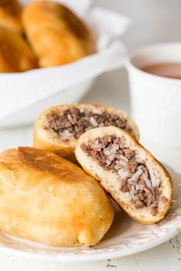 Russian Piroshki (Meat Hand Pies) #beefandrice