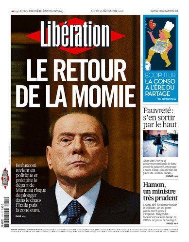 "Silvio Berlusconi: - ""Le Retour de la Momie"" Libération   - ""The Mummy Returns"" - Libération"