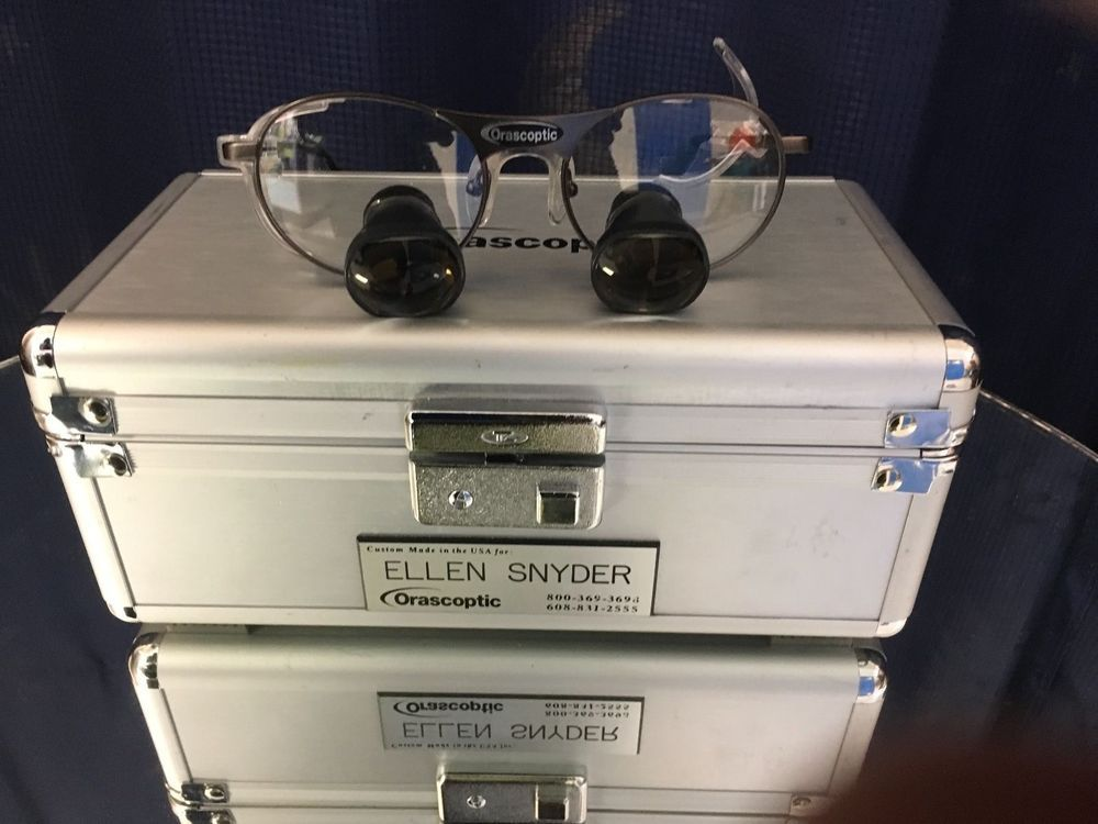 Orascoptic Dental Loupes Custom With Case T85817 | Mannequin