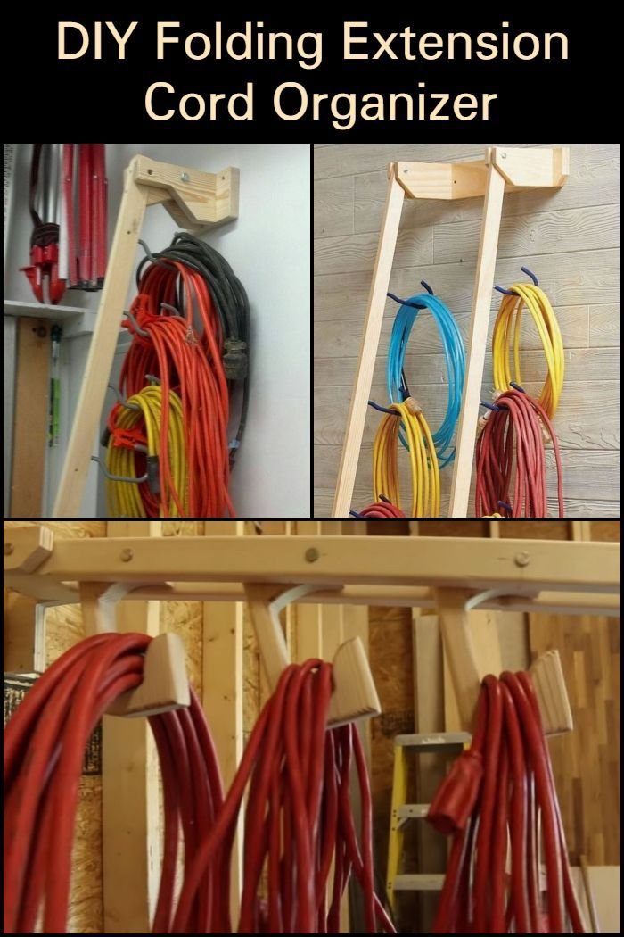 This Is A Great Way To Organize Your Extension Cords No More Tangles Cord Organization Diy Garage Storage Diy Storage