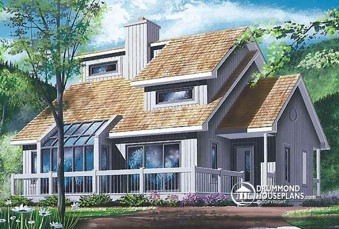 House Plan W2542 By Drummondhouseplans Com House Plans Lake House Plans Vacation House Plans